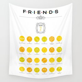 Tribute to Friends: Season 2 Wall Tapestry