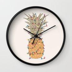 Tropical Lights Wall Clock