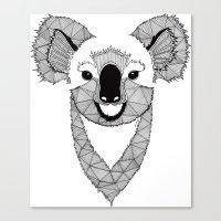 koala Canvas Prints featuring Koala by Art & Be
