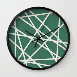 Emerald Lines Wall Clock