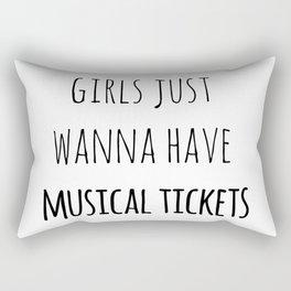 Girls just wanna have musical tickets Rectangular Pillow