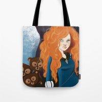 merida Tote Bags featuring Merida by Sophie Cappellari
