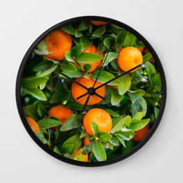 Orange Citrus Fruit Wall Clock