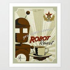 Robot Roast Art Print