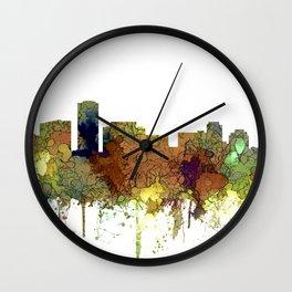 Long Beach, California Skyline - Safari Buff Wall Clock