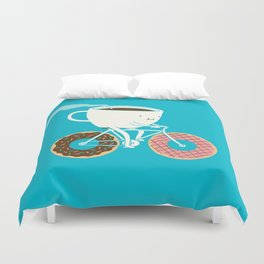 Coffee and Donuts Duvet Cover