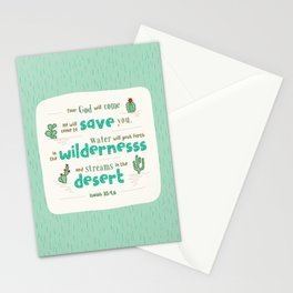 """""""Streams in the Desert"""" Hand-Lettered Bible Verse Stationery Cards"""