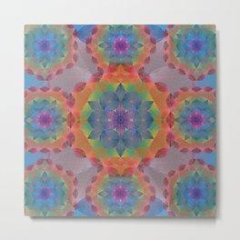 The Flower of Life - Leaf Pattern Metal Print