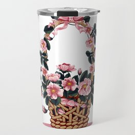 Beautiful Flower Basket Travel Mug