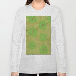 Olive Petal Rose Long Sleeve T-shirt