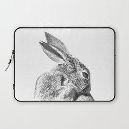 Black and white rabbit Laptop Sleeve