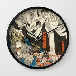 Ukiyo-e Prints Ukiyo e Takiyasha the Witch and the Skeleton Spectre by Utagawa Kuniyoshi Japan Poster Woodblock Japan prints Wall Clock