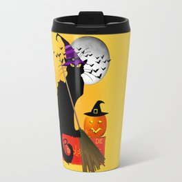 Le Chat Noir - Halloween Witch Travel Mug