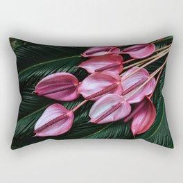 Anthurium and Sago Palm Rectangular Pillow