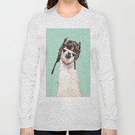 Cool Pilot Llama Long Sleeve T-shirt