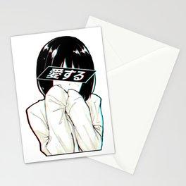 ALONE - Sad Japanese Anime Aesthetic Stationery Cards