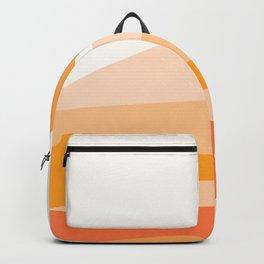 Abstract Landscape 09 Orange Backpack