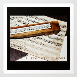 I love the piano Art Print