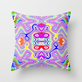 Crazy pattern, colored lines ... Throw Pillow
