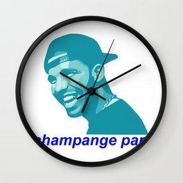champagne papi Wall Clock