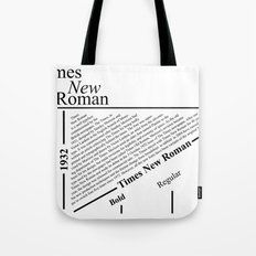 The Times New Roman Tote Bag