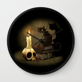 The Black Cat Wall Clock