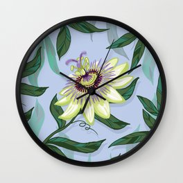 Passion Flower Wall Clock