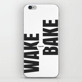 Wake Bake Repeat iPhone Skin