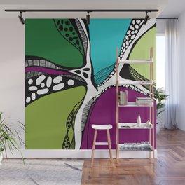 Colored garden Wall Mural