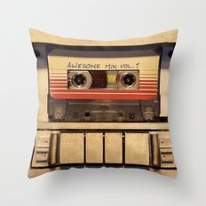 Awesome Mix Vol 1 Throw Pillow