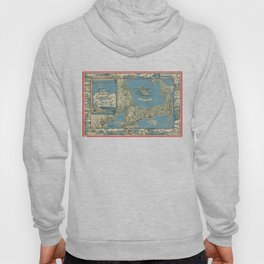 Vintage Map of Cape Cod (1945)  Hoody