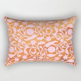 Pink Lotus Pattern Rectangular Pillow