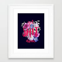 get shit done Framed Art Prints featuring Get Shit Done by farsidian