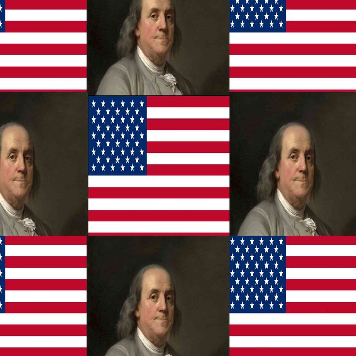 Flag and portrait:  Benjamin Franklin Leggings