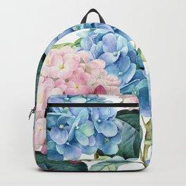 Pink Blue Hydrangea Backpack