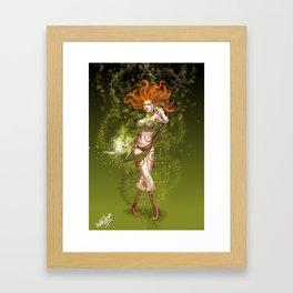 High Elf Druid Framed Art Print