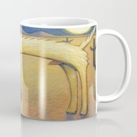coyote Mugs featuring Coyote by Bryan Dechter