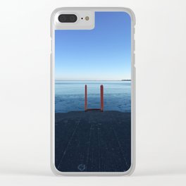 Lake Michigan in Winter, Chicago Clear iPhone Case