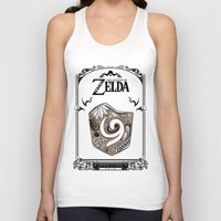 the legend of zelda Tank Tops featuring Zelda legend - Kokiri shield by Art & Be