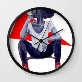 Red Kicks Wall Clock