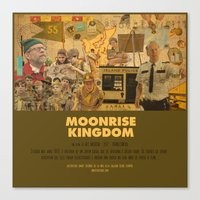 wes anderson Canvas Prints featuring Moonrise Kingdom - Wes Anderson by Smart Store