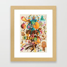 My favorite Monsters And Birds Part 3 Framed Art Print
