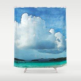 Caribbean Cumulonimbus Clouds Shower Curtain