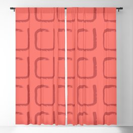 Imperfect Squares Minimal Geometry Coral Blackout Curtain