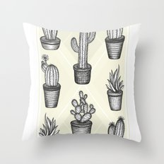 Prickly Friends Throw Pillow
