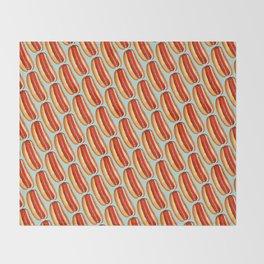Hot Dog Pattern Throw Blanket