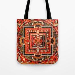 Mandala Manjushri Bodhisattva Transcendent Wisdom Tote Bag