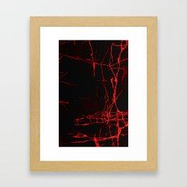 Horror -Dark Red- Framed Art Print