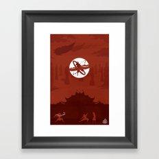 Avatar Book Fire - Version 2 Framed Art Print