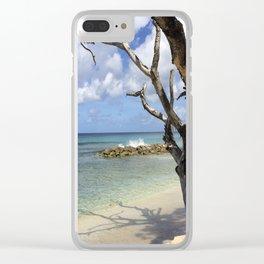 Barbados Beach Clear iPhone Case